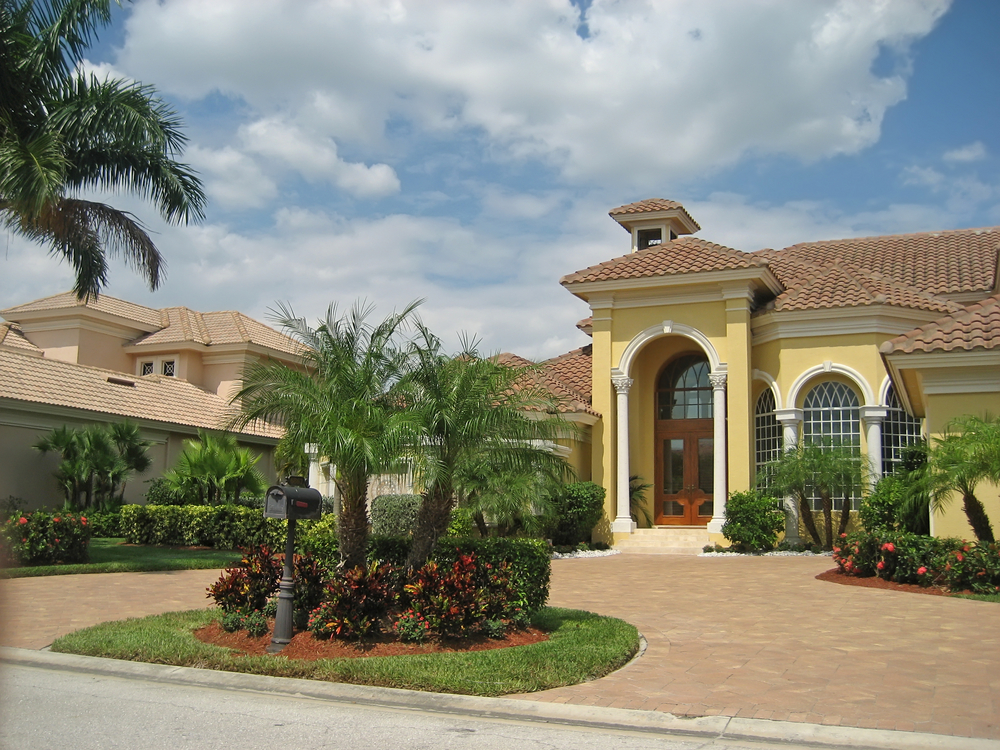 Landscape within drives are common in Tampa and can have outdoor lighting installed by Outdoor Lighting Perspectives