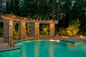 Properly lit pool from Outdoor Lighting Perspectives of Clearwater & Tampa Bay
