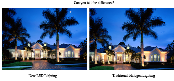 Halogen vs. Outdoor Lighting Perspectives LED outdoor lighting