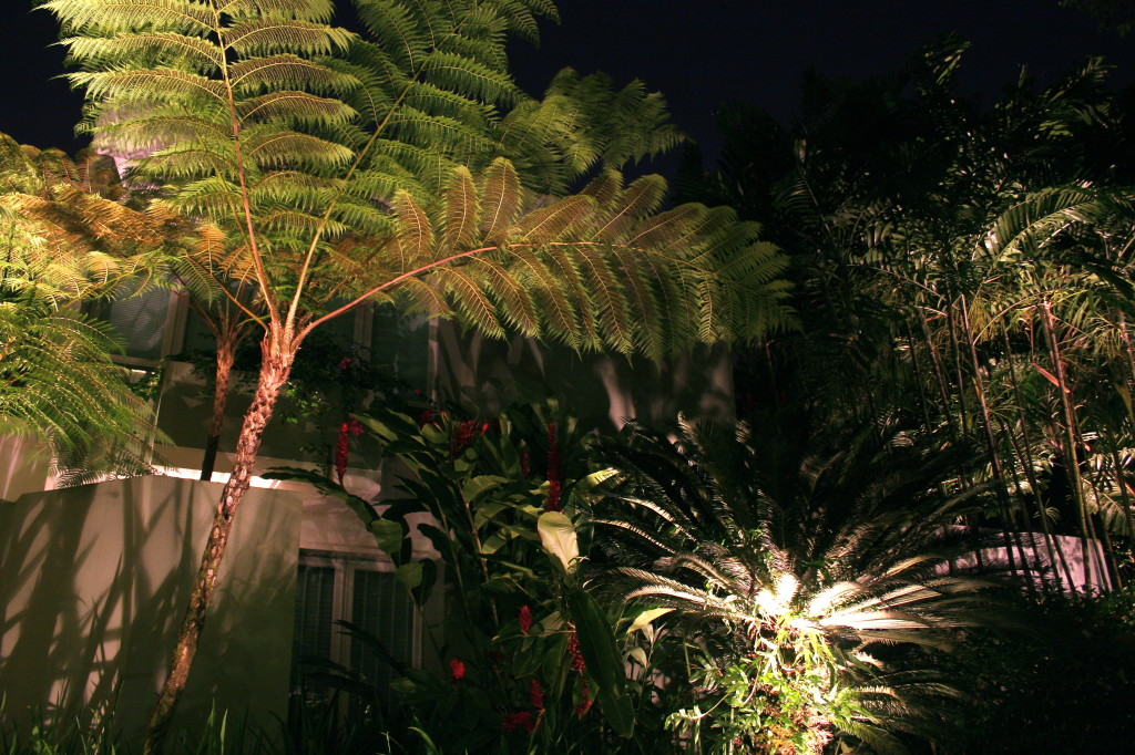 Landscape lighting increases the beauty and benefits of your new landscaping .
