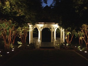 Gazebo lighting allows you use of the area after dark and enhances the structure's appearance.