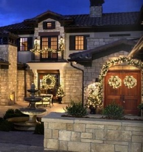 Professional holiday lighting dresses up your home for the holidays.