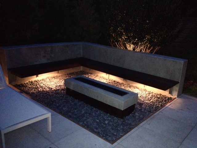 Clearwater_Tampa_Bay_firepit_area - Unique Outdoor Lighting Design For A Unique Outdoor Living Space
