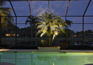 Landscape lighting in your lanai can extend your hours of enjoyment.