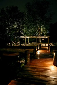 "An experienced outdoor lighting designer can help you avoid the ""runway"" look."