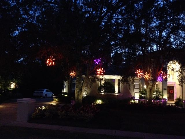 Celebrate with holiday lighting throughout the year.