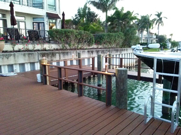 Clearwater and Tampa Bay dock lighting enlivens the oceanfront views and adds function to your space!
