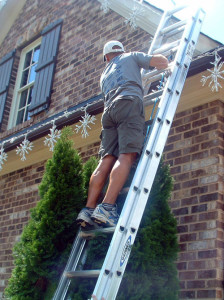 One of our professional installers in action.