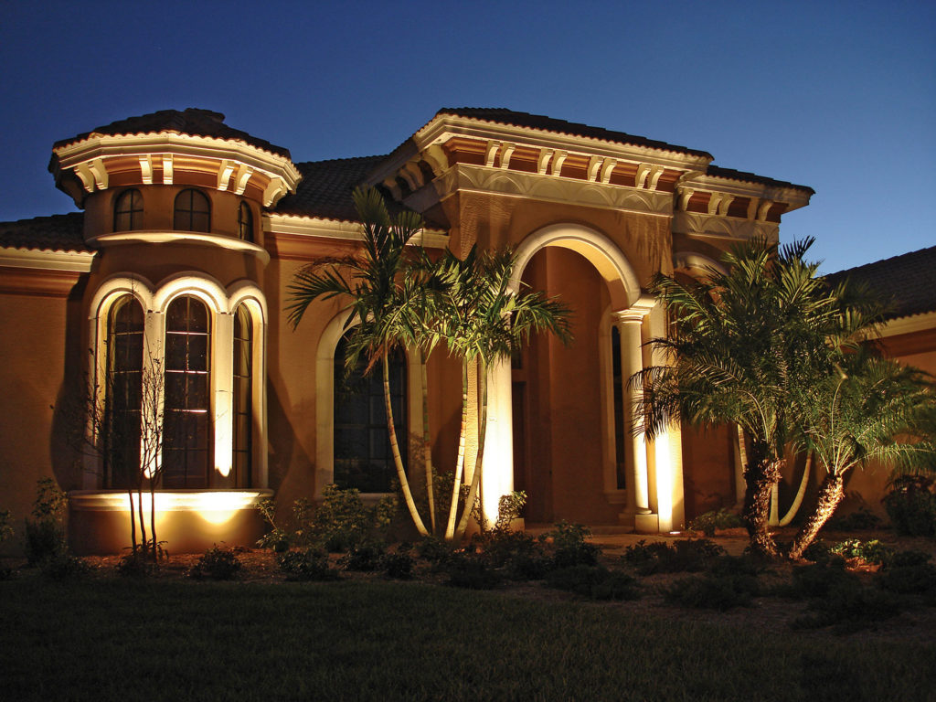 Lush Coastal Landscape Lighting