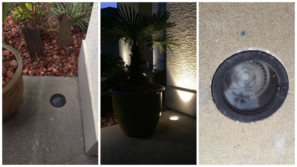 Clearwater Landscape Lighting placement through core drilling