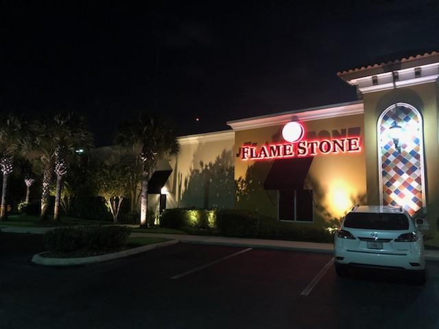 Delicious Outdoor Lighting At Flamestone American Grill In Oldsmar